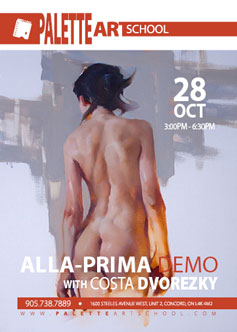 Alla-Prima DEMO with Costa DVOREZKY