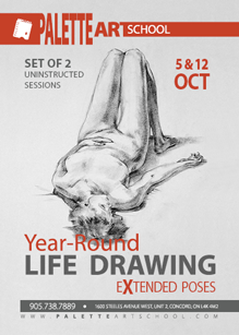 Set of 2 Uninstructed Life Drawing Sessions