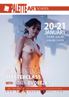 January 20 & 21, 2018</br>Alla Prima Masterclass with Costa Dvorezky.