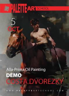 Alla-Prima Oil Painting <b>DEMO</b><br>with COSTA DVOREZKY