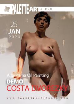 Alla-Prima Oil Painting <br><b>DEMO</b><br>with COSTA DVOREZKY