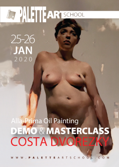 Alla Prima Oil-Painting <br><b>DEMO</b> & <b>MASTERCLASS</b><br>with COSTA DVOREZKY