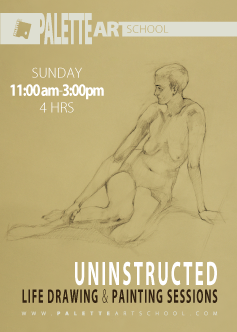 <b>Uninstructed</b><br>Life Drawing or Painting Session