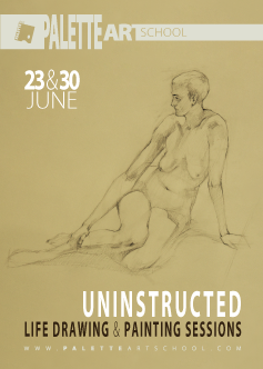 June 23 & 30, 2018</br><b>Uninstructed Life Drawing or Painting Sessions (2 days)</b>