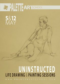 May 5 & 12, 2018</br><b>Uninstructed Life Drawing or Painting Sessions (2 days)</b>