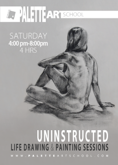 Uninstructed <b>Life Drawing or Painting</b> Sessions (4 hours).