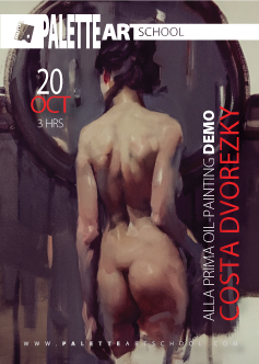 Alla Prima Oil-Painting <b>DEMO</b> with Costa Dvorezky.