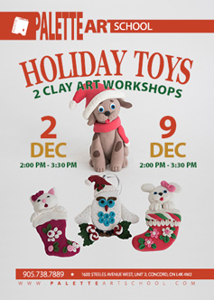 December 2, 2017</br>Holiday Toys - Clay Art