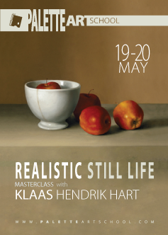 May 19 & 20, 2018</br><b>Realistic Still Life Masterclass with Klaas Hendrik Hart</b>