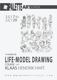 July 7 to July 29, 2018 (8 sessions).<br><b>Life-Model Drawing Course with Klaas Hart</b>