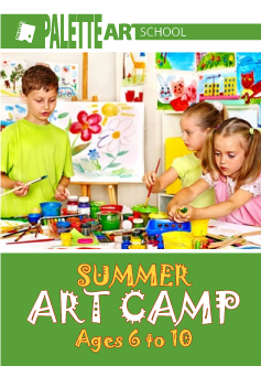 <b>Summer Art Camp. Ages 6 to 10</b><br>Full Day