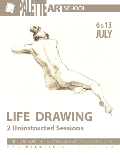 Uninstructed Life Drawing Sessions (2 days).