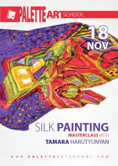Silk Painting <b>Masterclass</b> with Tamara Harutyunyan.